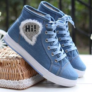 Top quality girls shoes blue color