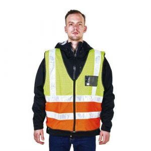 100% Polyester Thi Visibility Mesh Safety Vest with ID Pocket R188-2
