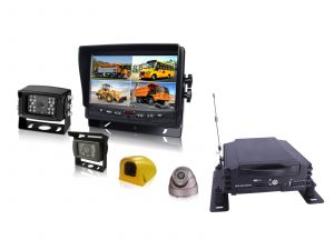 1080P 4CH Car Mobile DVR System Support GPS, 3G/4G, WiFi
