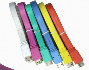 1080P HDMI Cable Flat Design, Various Color Available