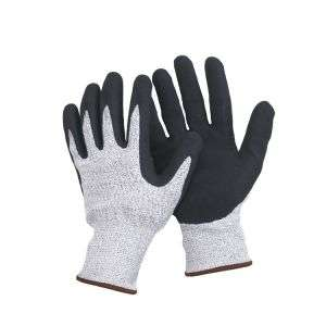 13 Guage Hppe Fibre Knitted Glove with Latex Coated L-D132