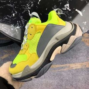 Yellow Color Dad Shoes Generation Clunky Sneaker Dadshoes Platform 5cm High Casual Flat Shoe Dadshoes Designer Dad Fashion Luxury Womens Shoes Triple-Wholesale Replica Shoes