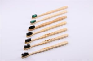 Bamboo Brush Manufacturer FDA Approved Toothbrush Bamboo Toothbrush with Charcoal Bristle