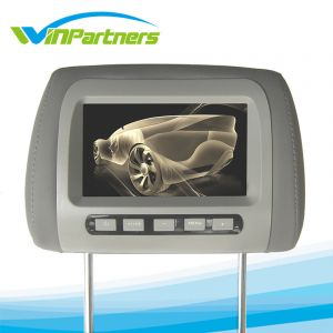Car Monitor Gray Color  7 Inch LCD Digital Screen Car Headrest Monitor Adjustable Distance