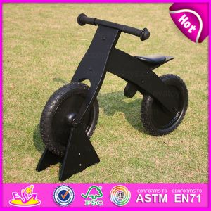 Black 2015 New and Popualr Wooden Kid Bike, High Quality Wooden Kid Bike and Hot Sale Balance Wooden Kid Bike W16c051