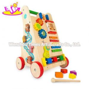 Best Design Activity Play Wooden Baby Walker with Wheels W16e146