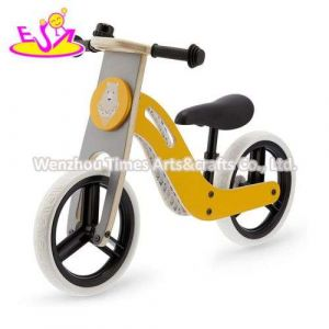 Yellow Color High Quality Early Learning Mini Wooden Balance Bike for Children W16c283