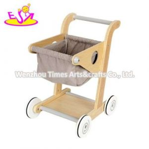 High Quality Educational Wooden Childs Shopping Cart with W16e150