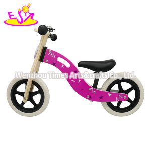 Pink Color 2020 High Quality Pink Wooden Baby Balance Bike with Low Orders W16c292