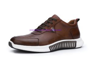 2020 New Design Men′s Sneaker High-Quality Casual Brown Color Shoes Sport Shoes