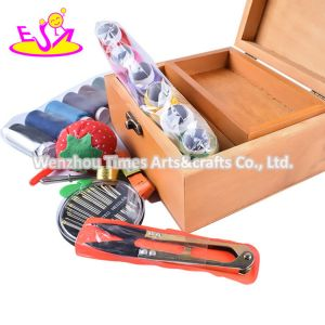 2020 New Released Kids Small Wooden Sewing Kit with Box W10d253