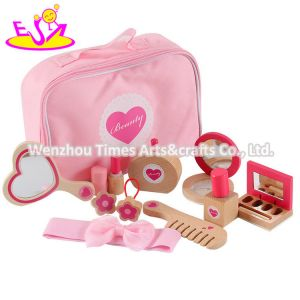 2020 New Released Pink Wooden Pretend Makeup Set for Girls W10d275