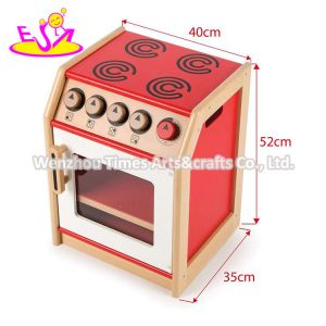 2020 New Released Standing Wooden Play Stove Top for Children W10c536
