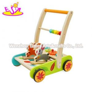 Wholesale Activity Play Wooden Baby Walker Car for Children W16e154