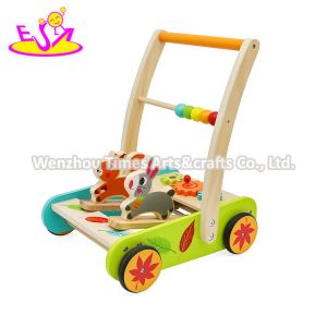 2020 Wholesale Activity Play Wooden Baby Walker Car for Children W16e154