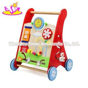 Wholesale Learning Wooden Baby Walker Toy for Push Along W16e142