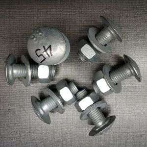 Round Head Oval Shape Head Bolt and Nut Used for Roller Barrier Rolling Guardrail Fencing System