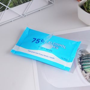 10PCS Wipes Display Box Nonwoven 75% Alcohol Wet Wipe Body Wipes