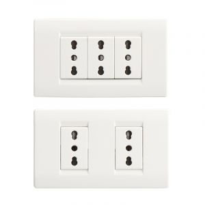 3 Gang Wall Socket with Safety Door