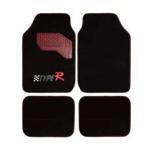 Non Skid 4 Piece Carpet-Floor-Mats Set for Car -PVC Back, All-Weather Protection for Sedan, Suvs All Vehicles