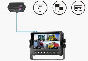 4 Channel HD 1080P Car Mobile DVR Video Recording System with GPS