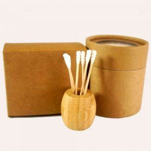 4 Packed in 1 Package with Customs Logo Cotton Buds