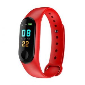 Red Color Screen Fitness Activity Tracker Band M3 Smart Bracelet with Heart Rate Monitor