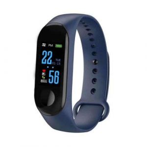 Navy Blue Color Screen Fitness Activity Tracker Band M3 Smart Bracelet with Heart Rate Monitor