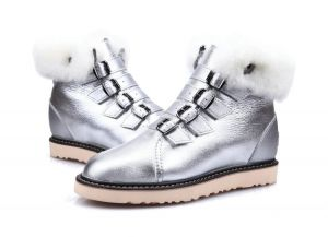 silver color Winter Classic Fashion Women′s Shoes and Boots Replicas Shoes Wholesale Market Outdoor Classic Fluff Sheepskin Boots Men′s Footwear Designer Bailey Bow Warm Me