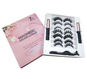 Private Label Volume Classic Eyelash Extension 3D Real Mink Fur Strip Eyelash with Custom Box Private