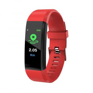Red Color Smart Waterproof Band Wristband ID115 Plus Bracelet Sport Tracker Heart Rate Monitor