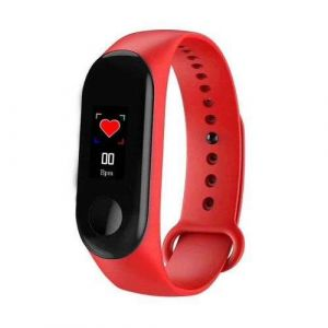 Red Color Global Version M3 Band Smart Wristband Activity Fitness Tracker Sport Bracelet for Android Ios