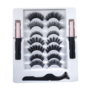 Magnetic Mascara Two Magnetic Mascara Five Magnets Seven Pairs of Mixed Eyelash Tweezers Magnetic False Lashes
