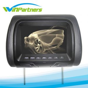 7inch Car Headrest LCD Color Monitor, Car Video and Audio with MP5 Function