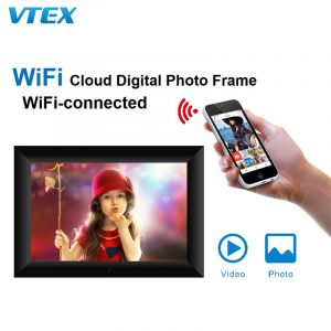 8 Inch WiFi Remote Sharing Cloud Storage Digital Picture Frame for Photos