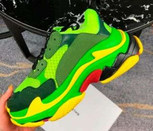 Green Color Dad Shoes Generation Clunky Sneaker Dadshoes Platform 5cm High Casual Flat Shoe Dadshoes Designer Dad Fashion Luxury Womens Shoes Triple-Wholesale Replica Shoes