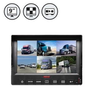 9 Inch 6 Channel HD Car Mobile DVR Monitor with GPS, 3G/4G, WiFi