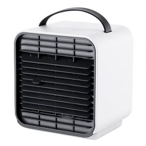 White color Portable Wireless Battery Powered Cool Wind Water and Ice Negative Ion Mini Air Conditioner Fan