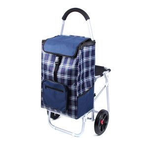 Aluminium Shopping Trolley Bag with Seat