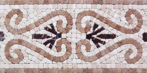 Ancients Style Handmade Border Tile for Home Decoration