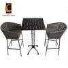 Anti Fading Outdoor Garden Wikcer Rope Metal Aluminum Patio Dining Furniture Set Table Chair