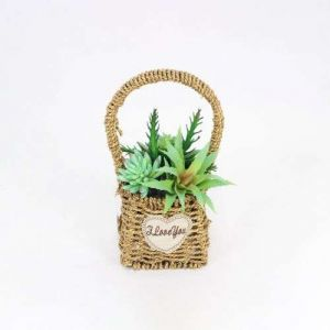 Artificial Fleshy Basket Plant Artificial Flower Garden Wind
