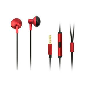 High quality metal handsfree with 3.5mm gold plug, hot slales stereo sound wired earphone