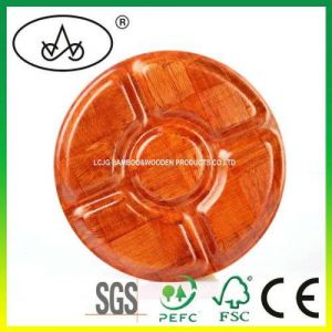 Bamboo/Wood Plate/Tray for Candy/ Snack/Nuts/Cookies/Dessert/ Biscuit/Crafts/Tableware/ Decoration/Household/Hotel/ Promation Gift/ Container/Storage (LC-791)