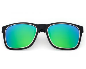 Black Frame Hot Sale Classic Clip on Sunglasses with Polarized Tac UV 400 Protection Man Woman