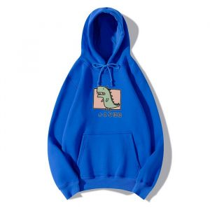 Dark Blue Color Cartoon Unisex Hoodie, Multi-Color Selection, High-Quality Trend Can Be Customized