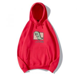 Red Color Cartoon Unisex Hoodie, Multi-Color Selection, High-Quality Trend Can Be Customized