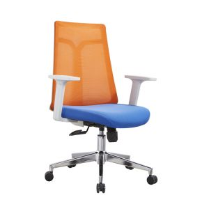 Breathable Mesh Office Chair Computer  Orange Color Chair Household Staff Pulley Back Simple