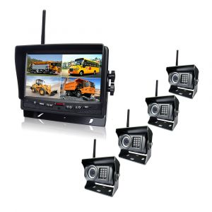 """Ce & E-MARK Wireless Security System, IP69k Car Reverse Camera with 7"""" Car Monitor"""