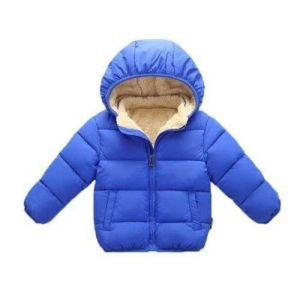 Children′s Winter Coat Cotton-Padded Jacket with Fleece and Thick Warm Cotton-Padded Jacket